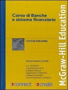 Libro Corso di banche e sistema finanziario