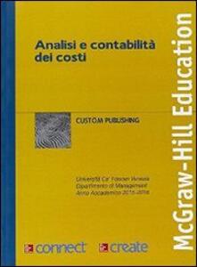 Analisi e contabilità dei costi