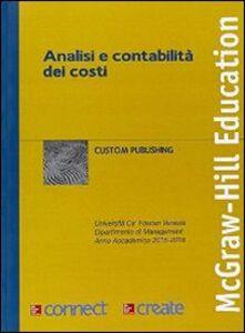 Foto Cover di Analisi e contabilità dei costi, Libro di  edito da McGraw-Hill Education