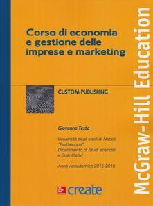 Corso di economia e gestione delle imprese e marketing - copertina