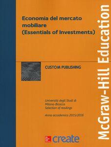Foto Cover di Economia del mercato mobiliare (Essentials of Investments), Libro di  edito da McGraw-Hill Education