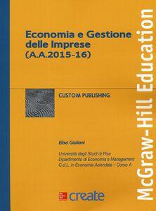 Libro Economia e gestione dellle imprese Elisa Giuliani