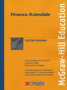 Finanza aziendale - Domenico Piatti,M. Camilla Colnago - copertina