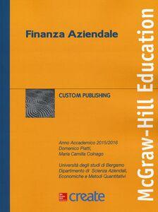 Foto Cover di Finanza aziendale, Libro di Domenico Piatti,M. Camilla Colnago, edito da McGraw-Hill Education