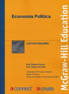 Economia politica - Roberto Roson,Sergio Currarini - copertina