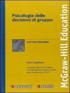 Psicologia delle decisioni di gruppo - copertina