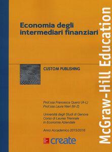 Libro Economia degli intermediari finanziari Francesca Querci , Laura Nieri