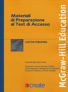 Libro Materiali di preparazione al test di accesso