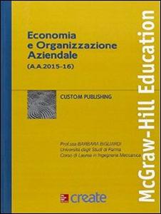 Libro Economia e organizzazione aziendale 2015-16