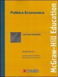 Foto Cover di Politica economica, Libro di  edito da McGraw-Hill Education