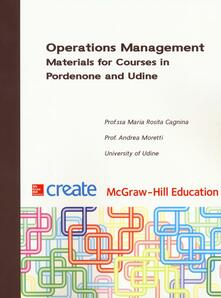 Criticalwinenotav.it Operation management. Materials for courses in Pordenone and Udine Image