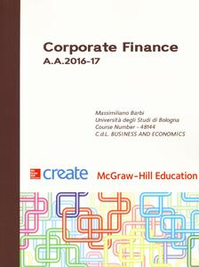 Corporate finance A. A. 2016-17 - Massimiliano Barbi - copertina
