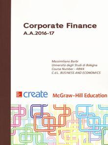 Corporate finance A. A. 2016-17 - copertina