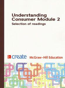 Foto Cover di Understanding consumer. Module 2. Selection of readings, Libro di  edito da McGraw-Hill Education