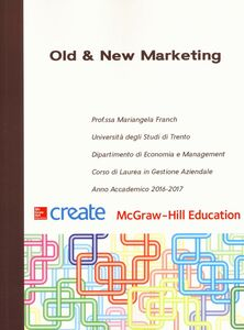 Libro Old & new marketing Mariangela Franch