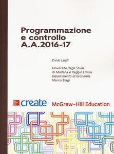 Programmazione e controllo A. A. 2016-17 - Ennio Lugli - copertina