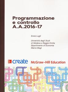 Libro Programmazione e controllo A. A. 2016-17 Ennio Lugli