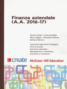 Libro Finanza aziendale (A. A. 2016-17) Sandro Sandri , Marco Bigelli , Barbara Petracci