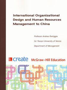 Libro International Organizational Design and Human Resources Management to China Andrea Pontiggia