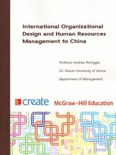 International Organizational Design and Human Resources Management to China