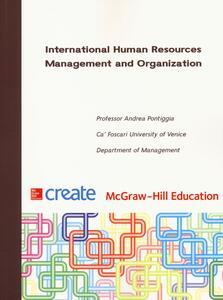 International Human Resources Management and Organization - Andrea Pontiggia - copertina