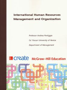 Libro International Human Resources Management and Organization Andrea Pontiggia