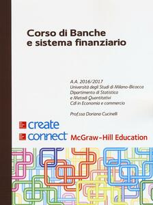Corso di banche e sistema finanziario - Doriana Cucinelli - copertina