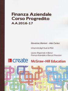 Libro Finanza aziendale. Corso progredito A. A. 2016-17 Giovanna Mariani , Ada Carlesi