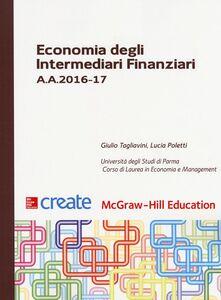 Libro Economia degli intermediari finanziari A. A. 2016-17 Giulio Tagliavini , Lucia Poletti