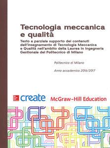 Tecnologia meccanica e qualità - copertina