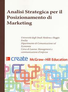 Analisi strategica per il posizionamento di marketing - copertina