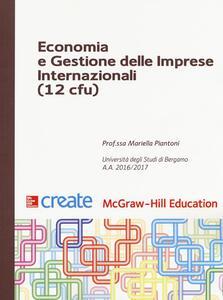 Economia e gestione delle imprese internazionali 12 cfu - Mariella Piantoni - copertina