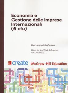 Economia e gestione delle imprese internazionali (6 cfu) - copertina