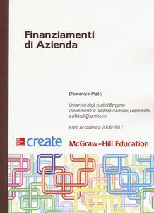 Finanziamenti di azienda - Domenico Piatti - copertina