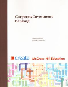 Corporate investment banking - Mario Comana,Guido Carli - copertina