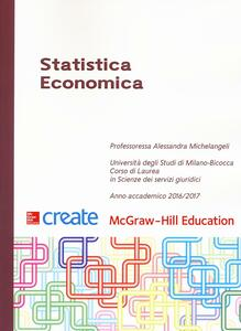 Statistica economica - Alessandra Michelangeli - copertina