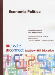 Economia politica. Con Connect - Roberto Roson,Sergio Currarini - copertina