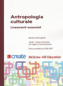 Antropologia culturale. Lineamenti essenziali - copertina