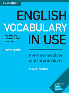 English Vocabulary in Use Pre-intermediate and Intermediate Book with Answers: Vocabulary Reference and Practice - Stuart Redman - cover