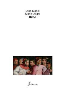 Le rime - Daniele Lucchini,Gianni Alfani,Lapo Gianni - ebook
