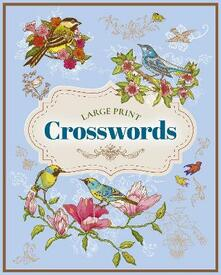 Large Print Crosswords - Eric Saunders - cover
