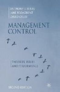 Foto Cover di Management Control: Theories, Issues and Performance, Libro inglese di AA.VV edito da Palgrave USA