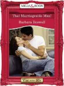 That Marriageable Man! (Mills & Boon Vintage Desire)