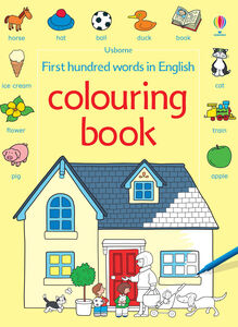 Libro First hundred words in English colouring book