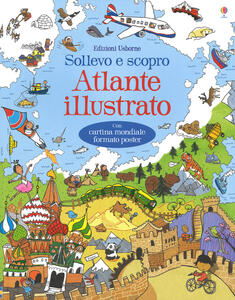 Atlante illustrato. Ediz. a colori. Con Carta geografica ripiegata - Alex Frith - copertina