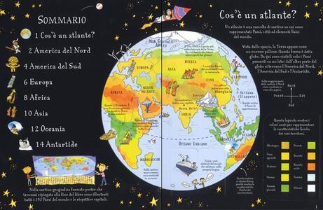 Atlante illustrato. Ediz. a colori. Con Carta geografica ripiegata - Alex Frith - 2