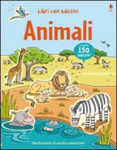 Foto Cover di Animali. Con adesivi, Libro di Jessica Greenwell, edito da Usborne Publishing