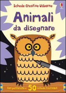 Libro Animali da disegnare. Con gadget Fiona Watt , Non Figg