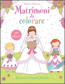 Festivalpatudocanario.es Matrimoni da colorare. Con adesivi Image