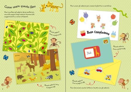 Foto Cover di 1000 adesivi di animali, Libro di Fiona Watt,Stella Baggott, edito da Usborne Publishing 1